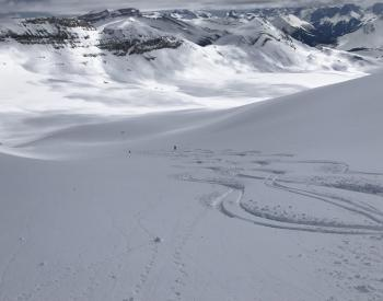 Bow Yoho Traverse #3, amazing winter skiing in late April!