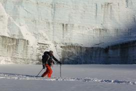 Toe of the Des Poilus Glacier